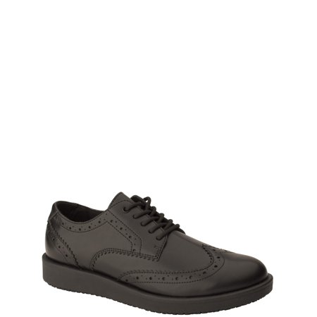 Tredsafe Men's Roman Slip Resistant Wing Tip Shoes