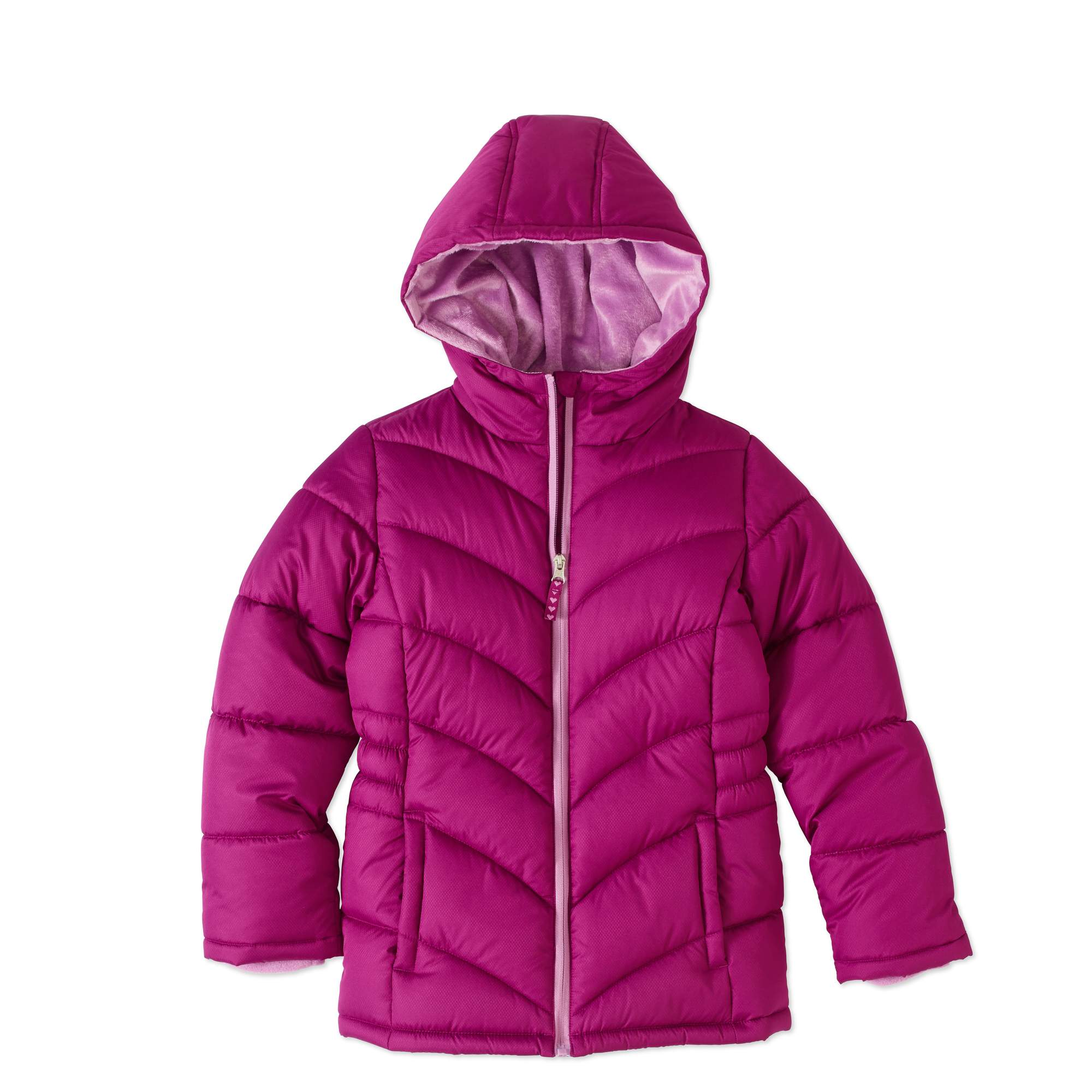 Faded Glory Girls' Quilted Bubble Jacket