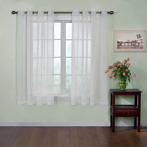 Curtain Fresh Odor-Neutralizing Sheer Voile Grommet Curtain Panel - Walmart.com