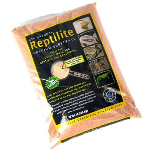 Blue Iguana Reptilite Calcium Substrate for Reptiles Desert Rose 40 Pounds (4 x 10 Pound Bags) by Acme