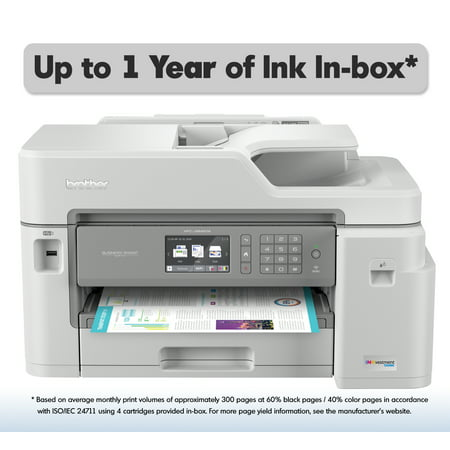 Brother MFC-J5845DW INKvestment Tank Color Inkjet All-in-One Wireless Printer with Up to 1-Year of Ink