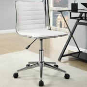 A Line Furniture Juliana Adjustable Sleek Cream Swivel Office Conference Chair with Chrome Base