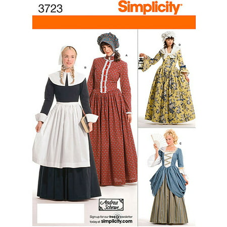 Simplicity Pattern Misses' Costumes, (14, 16, 18, - Sewing Patterns Halloween Costumes