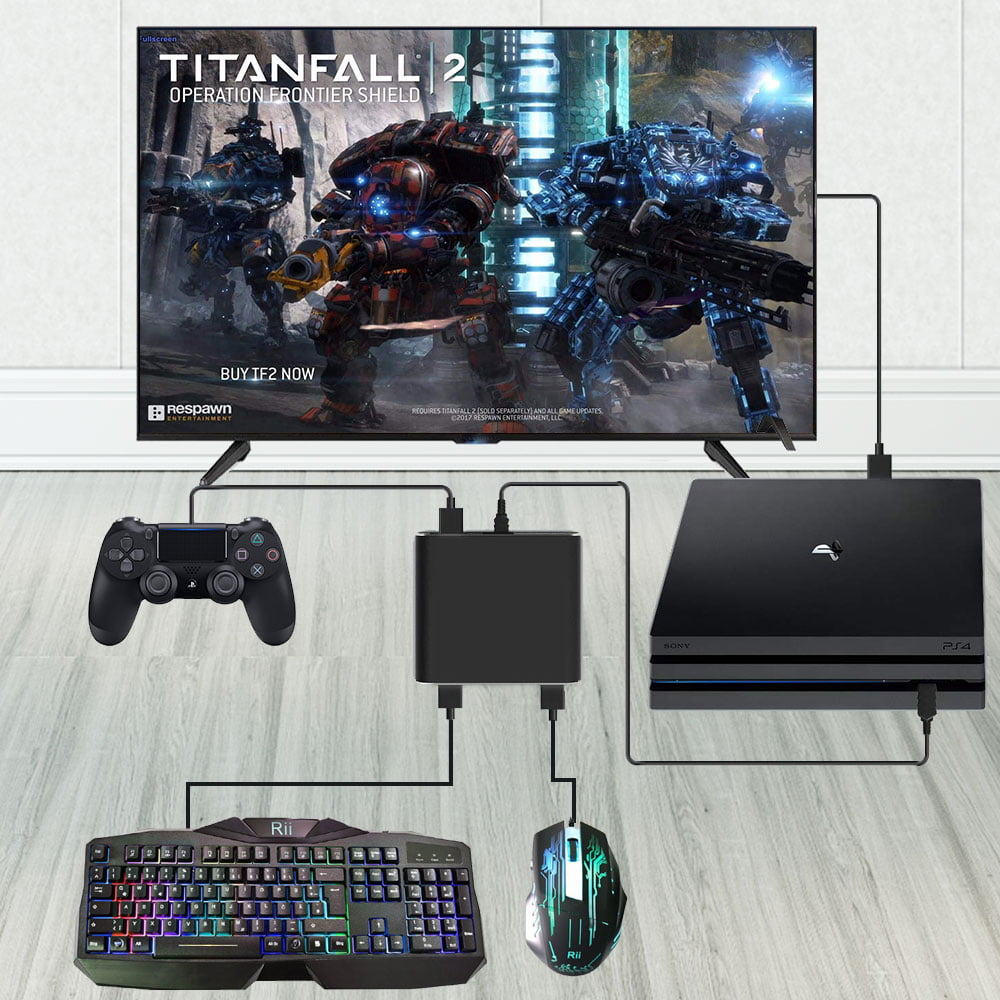 Keyboard And Mouse Adapter For Nintendo Switch Xbox One Ps4 Ps3 Ps4 Keyboard Adapter Xbox Keyboard Adapter Black Walmart Com Walmart Com