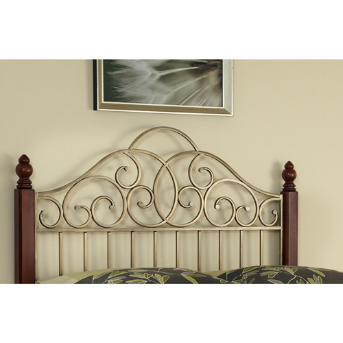 Home Styles St. Ives Queen Full Headboard, Cinnamon Cherry Aged Gold by Home Styles