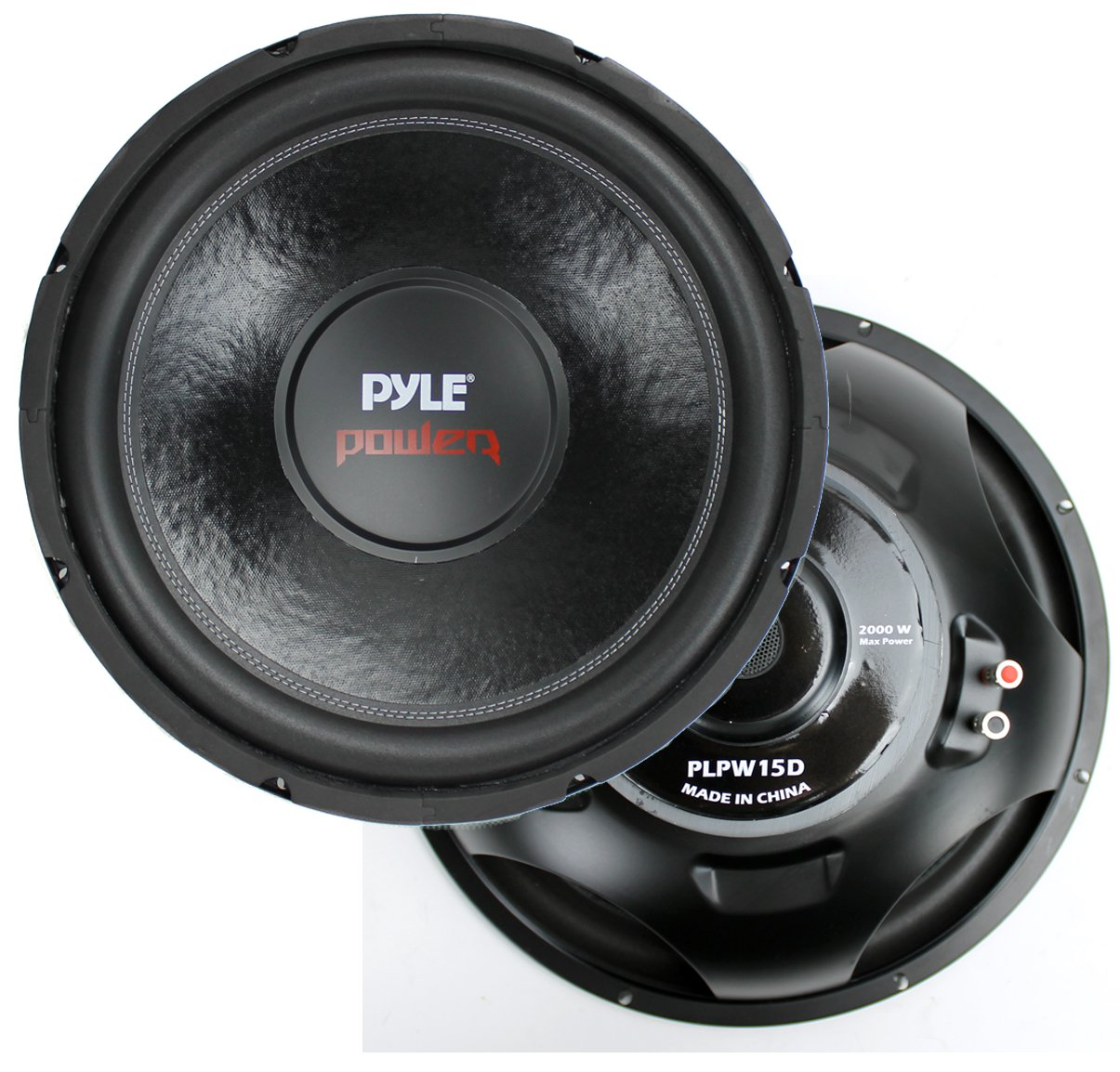 "2) New Pyle PLPW15D 15"" 2000 Watt 4-Ohm DVC Power Car Audio Subwoofer Sub Woofer"