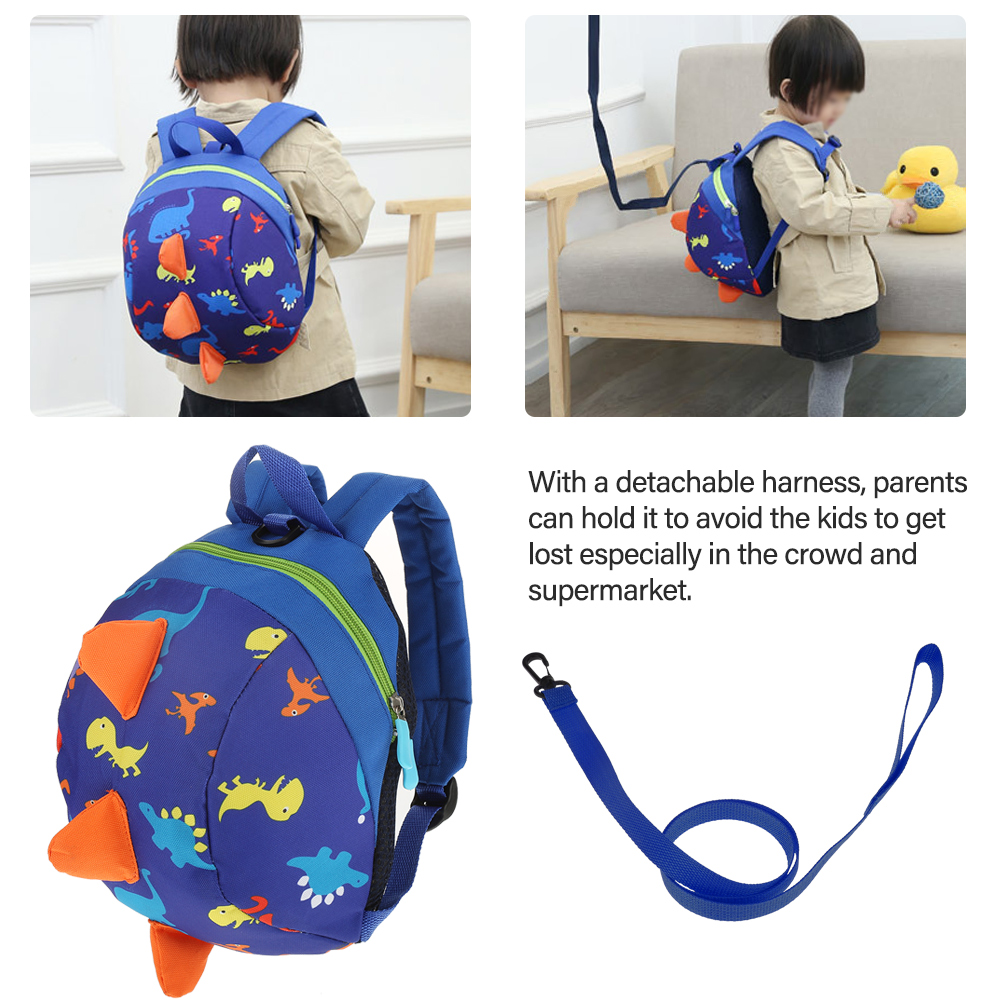 HURRISE Toddler Anti-lost Bag,Baby Safety Harness Backpack,Cute Cartoon Dinosaur Baby Safety Harness Backpack Toddler Anti-lost Bag Children Schoolbag