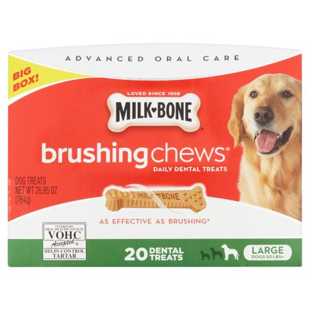 Milk Bone Brushing Chews Daily Dental Treats  Large  26 95 Oz Extra Value Pack  20 Ct