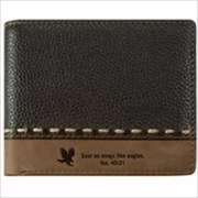 Christian Art Gifts 362699 Wallet Genuine Leather Wings Like Eagles Brown Tan
