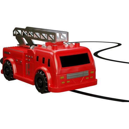 Zekpro Magic Inductive Car Truck Follows Black Line Magic Toy Car For Kids  - Best Mini Magic Pen Inductive Fangle ( Red Fire