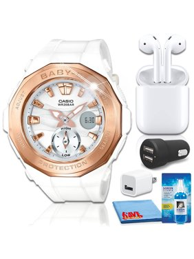 Casio Baby-G BGA220G-7A Watch with Airpods 2 Bundle