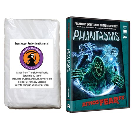 Digital Dvd Connection Kit - Halloween Digital Decoration DVD and Screen Kit includes AtmosfearFX Phantasms DVD + Reaper Bros 60