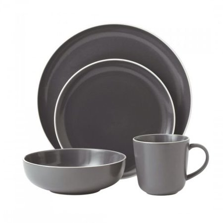 Gordon Ramsay 4-Piece Bread Street Dinnerware Set, Slate