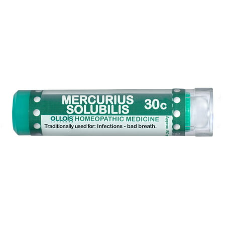 - Ollois Mercurius Solubilis 30C Pellets, Infection & Bad Breath Relief, 80 Ct