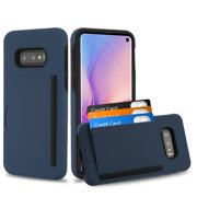 """Samsung Galaxy S10e (5.8"""") Wallet Phone Case Ultra Protective Cover with 3 Cedit Card ID Holder Slot [Slim] Heavy Duty Shockproof Hybrid Hard PC + TPU Armor NAVY Case for Samsung Galaxy S10E / S10 e"""