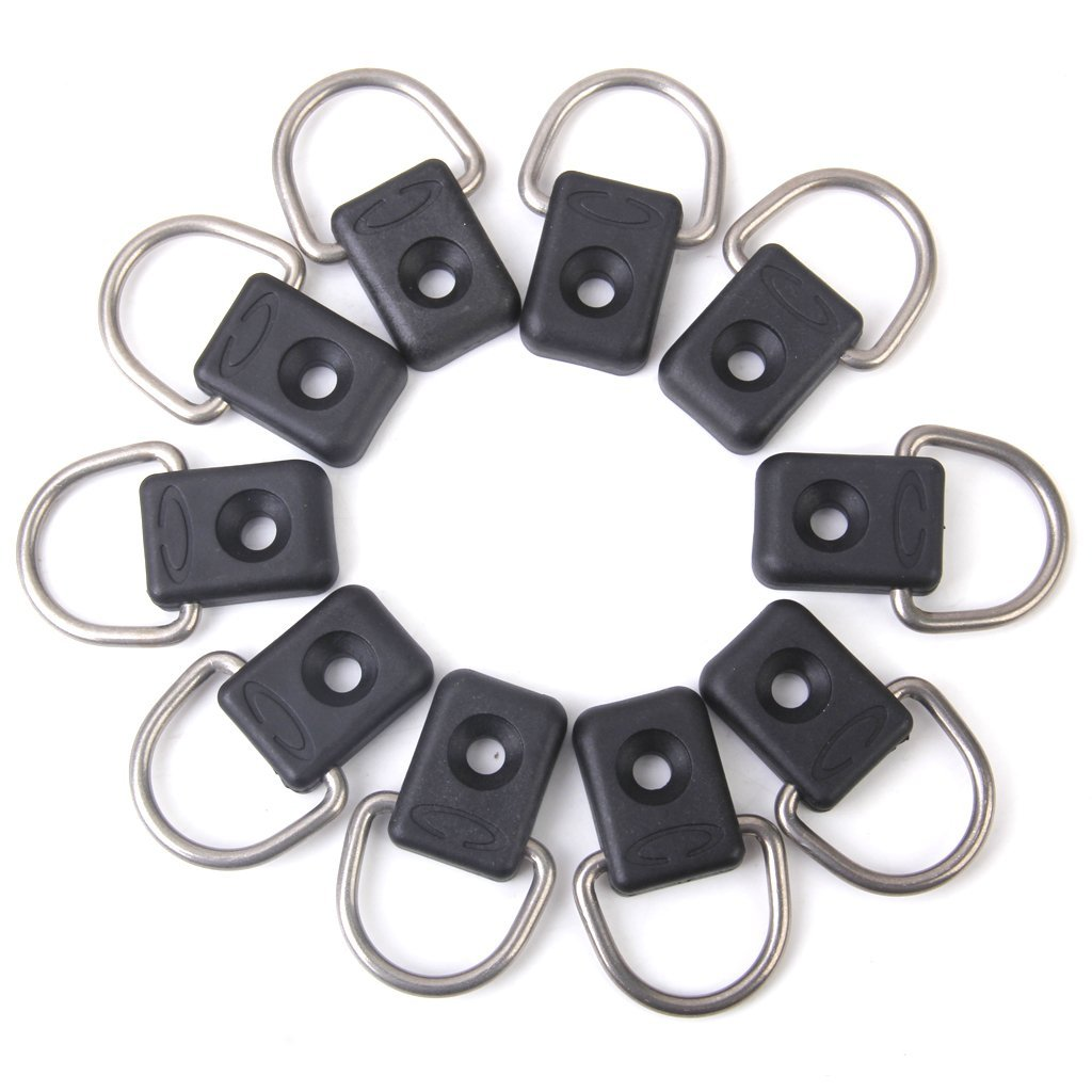 THZY 10 pieces Canoeing D-rings for canoe kayak accessories by THZY