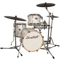 """Sawtooth Command Series 4-Piece Drum Shell Pack with 18"""" Bass Drum, White Oyster"""