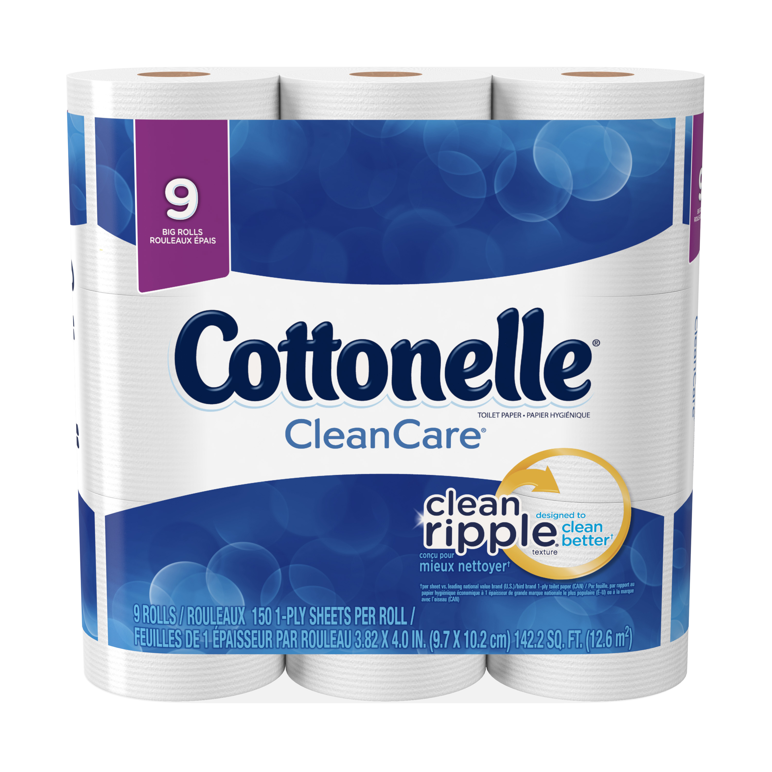 Cottonelle Toilet Paper, CleanCare, 9 Big Rolls