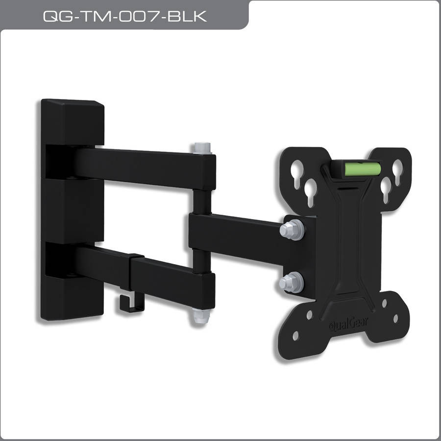 "QualGear QG-TM-007-BLK Universal Low-Profile Tilting Wall Mounting for 13""-27"" LED TVs"