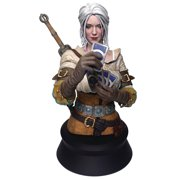 Dark Horse 8 Inch The Witcher 3 Wild Hunt Ciri Playing Gwent Resin Statue Bust