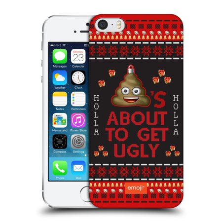 OFFICIAL EMOJI UGLY CHRISTMAS HARD BACK CASE FOR APPLE IPHONE PHONES