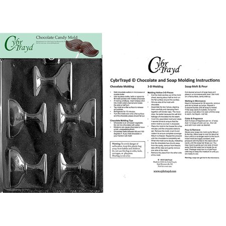 Champagne Glass Chocolate Candy Mold with Exclusive Cybrtrayd Copyrighted Molding (Fluted Boat Mold)