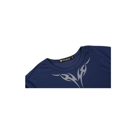 Allegra K Homme Col Rond Manches Courtes Slim Fit Motifs Tribaux Confort T-Shirt - image 2 de 7