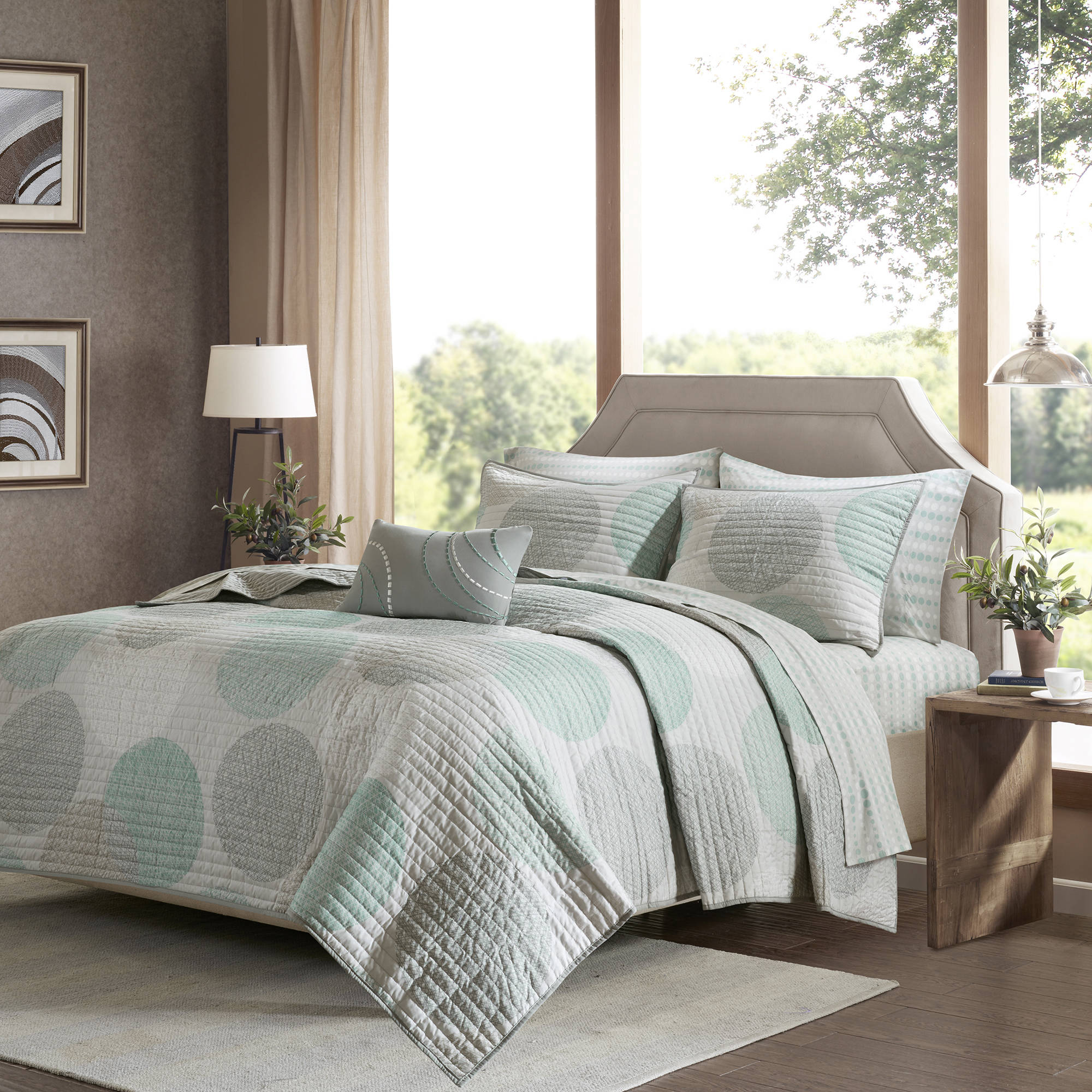 Home Essence Cabrillo Complete Coverlet and Sheet Set
