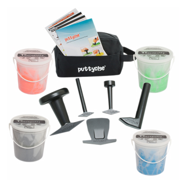 Puttycise TheraPutty set, hard, 5 tools, 4 1lb TheraPutty exercise putty