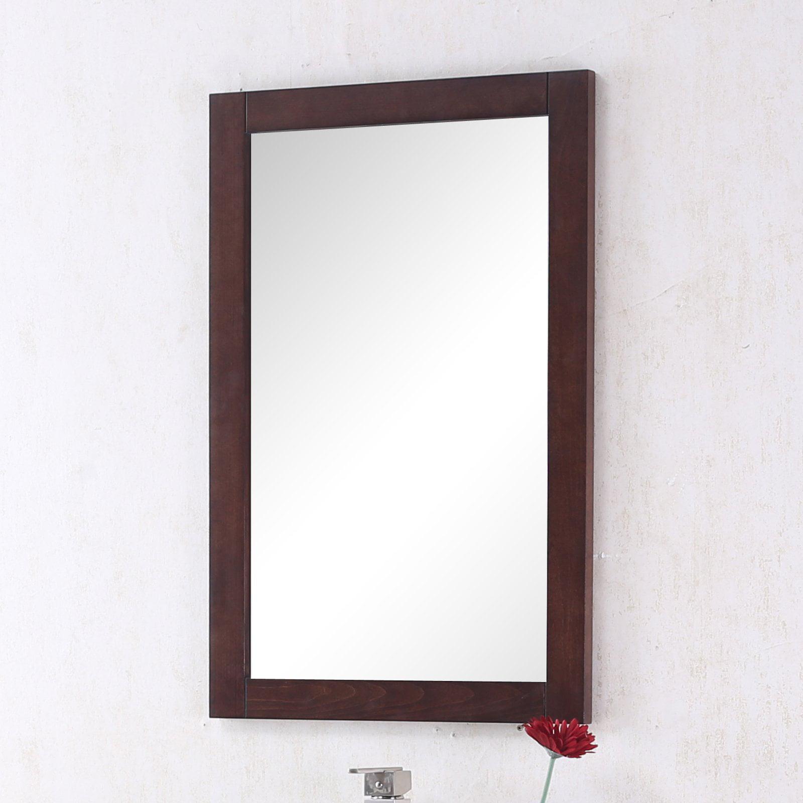 Legion 20 in. Royal Walnut Bathroom Mirror by Legion Furniture LLC