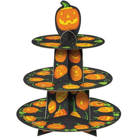 Jack-o-Lantern Halloween Cupcake Stand (Halloween Red Cupcakes)