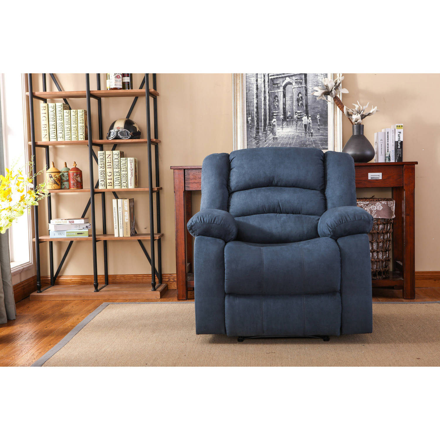 Nathaniel Home Addison Recliner, Blue