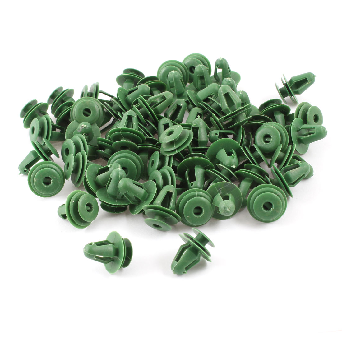 Unique Bargains Auto Car Fender Plastic Rivets Fasteners 18mm x 14mm x 10mm Green 100 Pcs