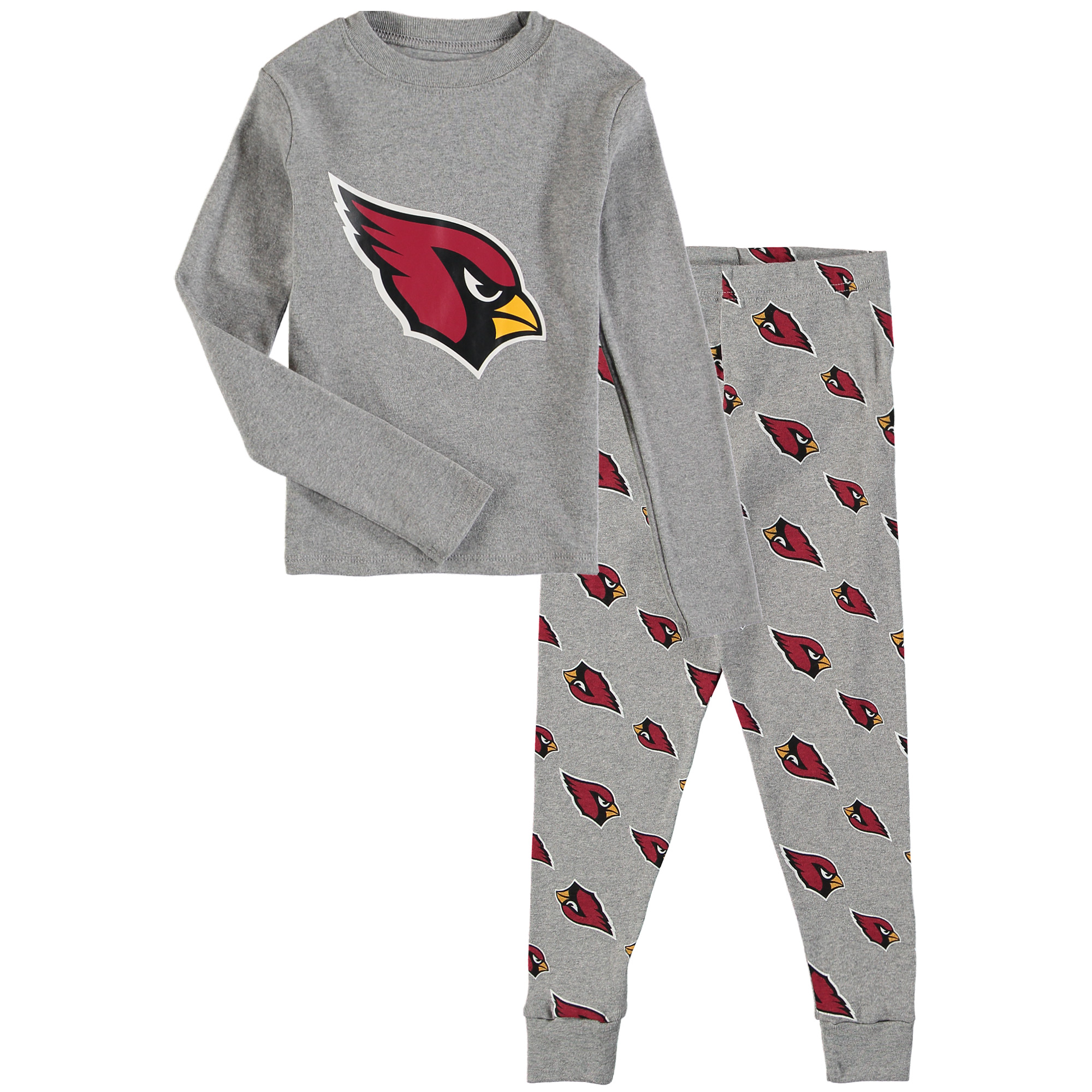 Arizona Cardinals Youth Long Sleeve T-Shirt & Pants Sleep Set - Heathered Gray