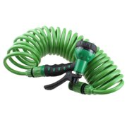 AGPtEK EVA 25FT/7.5M Expandable Garden Hose With Spray Nozzle for Gardening, Recreational Vehicles, Pools, Workshops