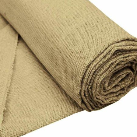 Efavormart 60 inch x 10 yards Natural Brown Burlap Fabric Roll