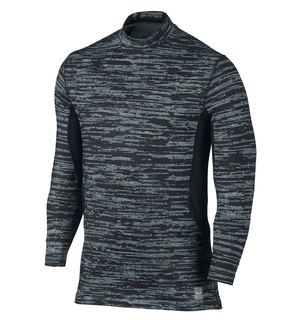Nike Men's Dri-Fit Hyperwarm Max Fitted Training Top-Blac...