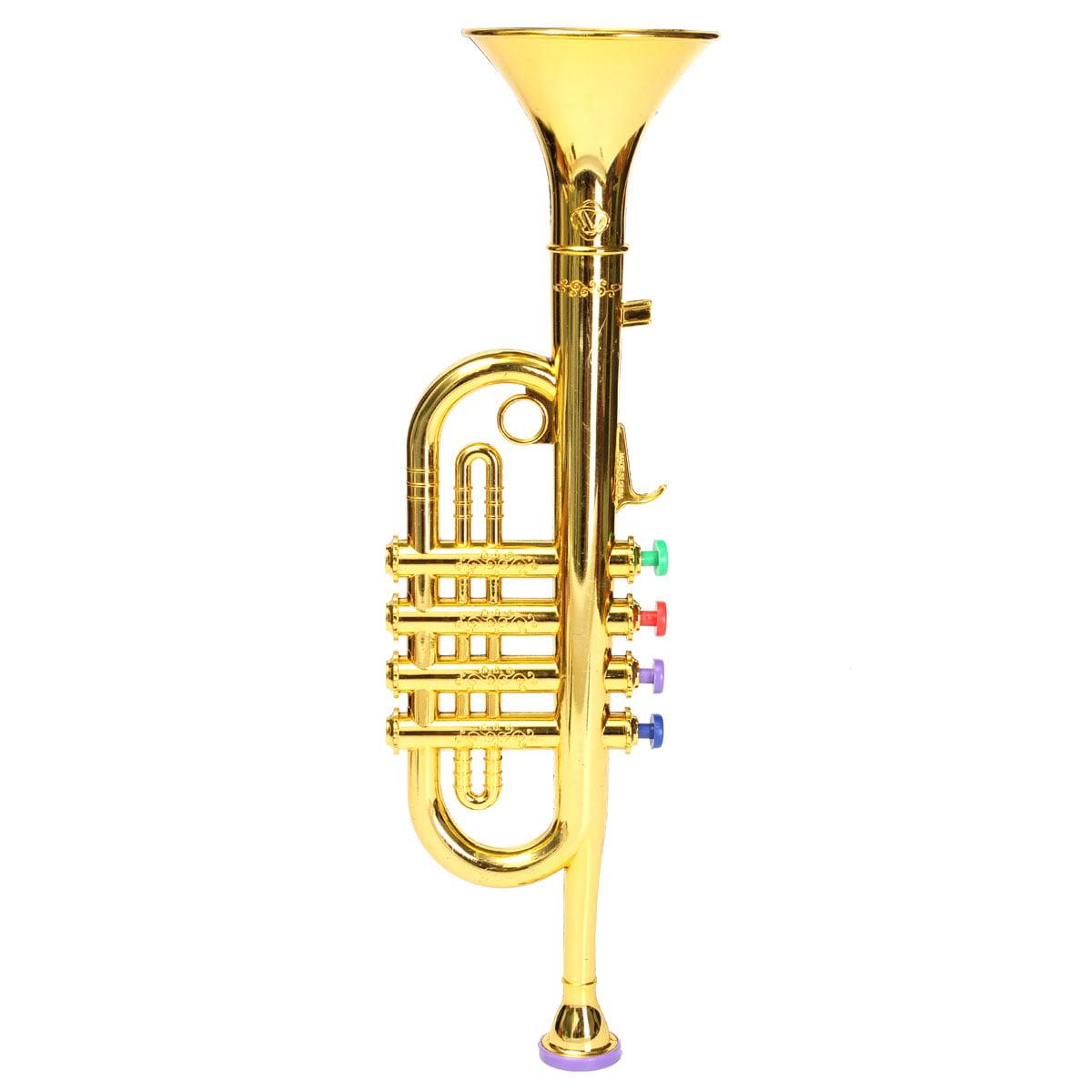 Golden / Silver Plastic Mini Horn Trumpet Musical Music Instrument ...