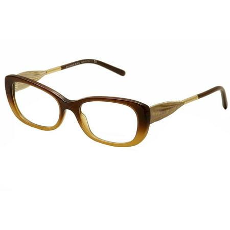 Burberry Eyeglasses BE2203 BE/2203 3369 Brown Hazelnut/Gold Optical Frame 52mm