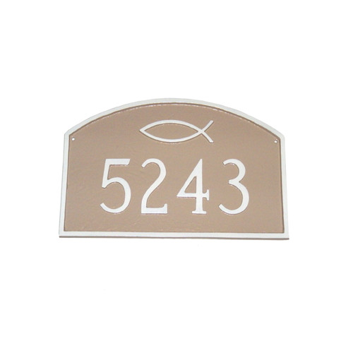 Montague Metal Products Inc. Prestige Ichthus Arch Standard Address Plaque