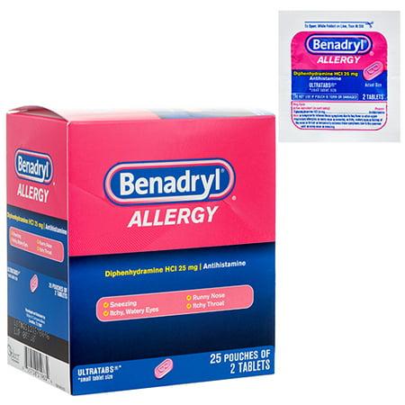 New 365996  Benadryl Allergy Relief 2Pc-25Pk (25-Pack) Cough Meds Cheap Wholesale Discount Bulk Pharmacy Cough Meds