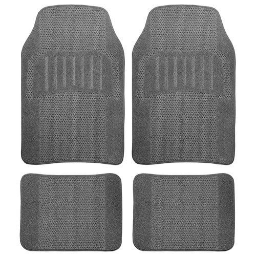 Remington Best Fashion Carpet Floor Mat Set, Grey, 4pc