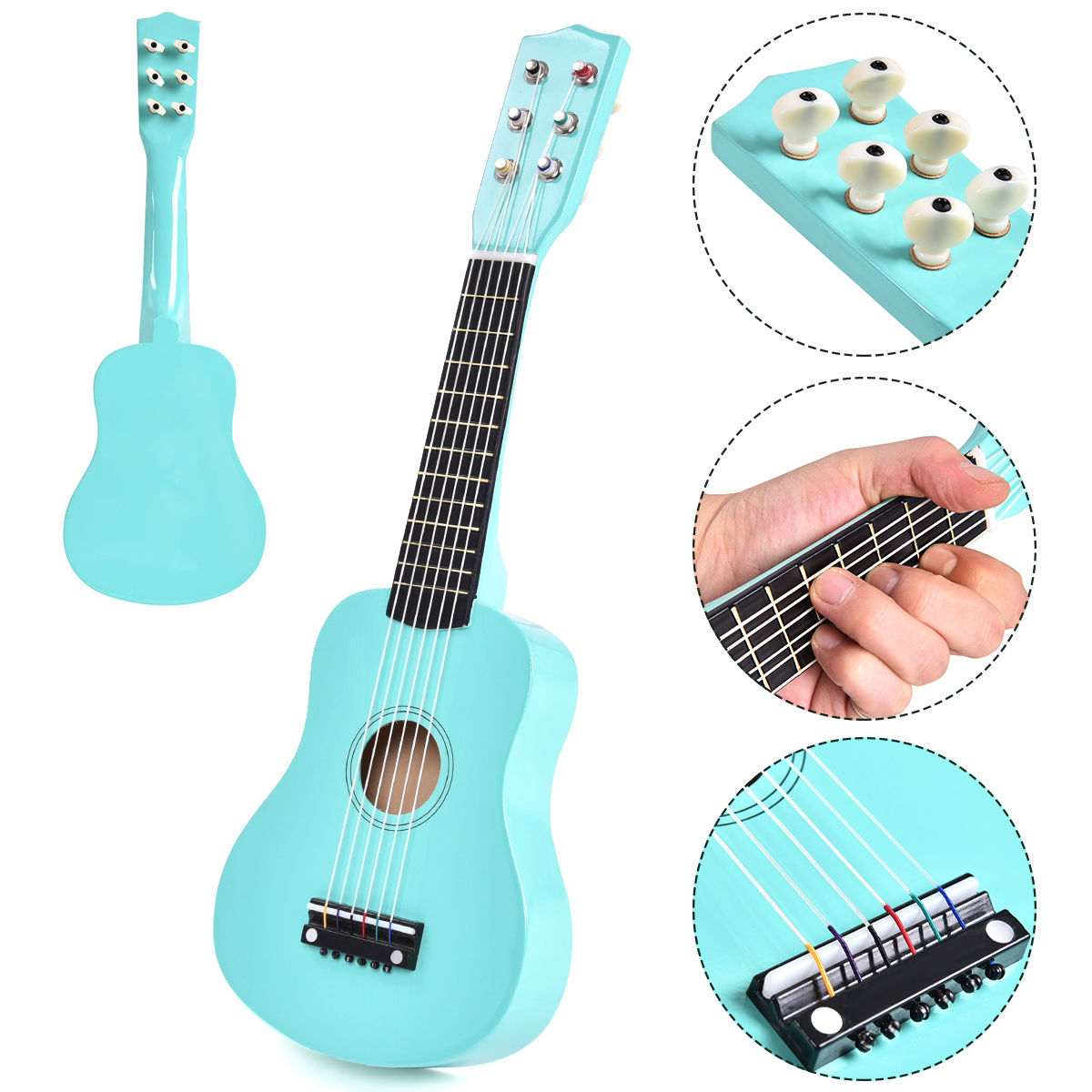 Costway 21'' Beginners Kids Acoustic Guitar 6 String with Pick Children Kids Musical Gift by Costway