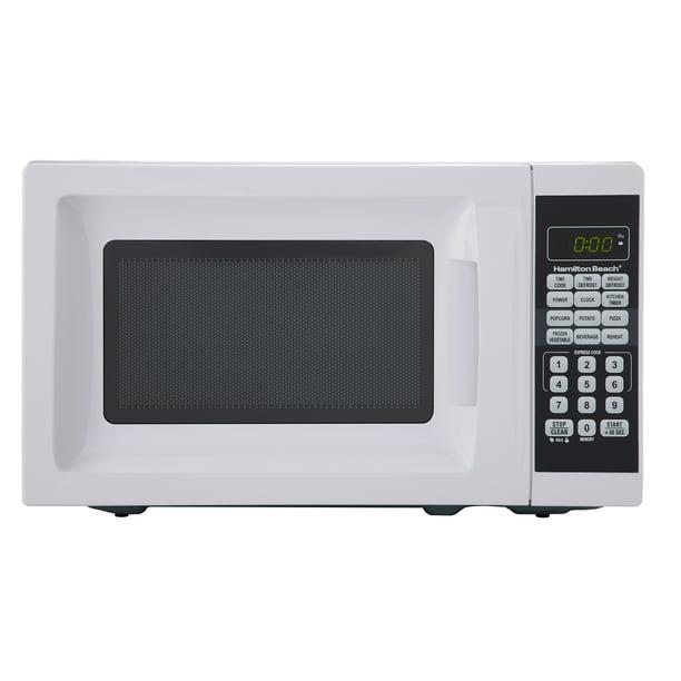 Hamilton Beach 0.7 Cu. Ft. White Microwave Oven - Walmart.com - Walmart.comWalmart