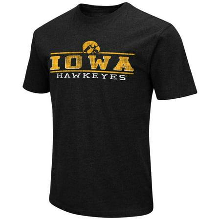 - Iowa Hawkeyes Adult Soft Vintage Tailgate T-Shirt - Black