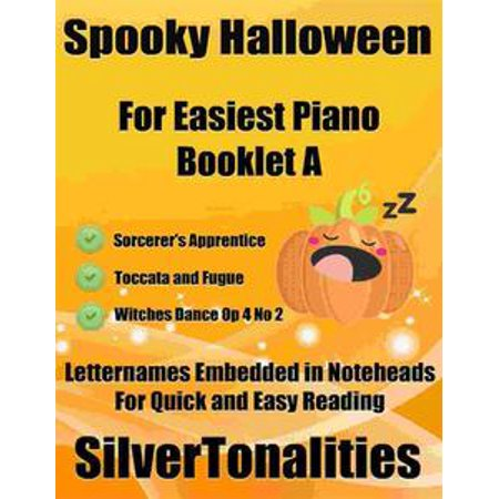 Spooky Halloween for Easiest Piano Booklet A - eBook