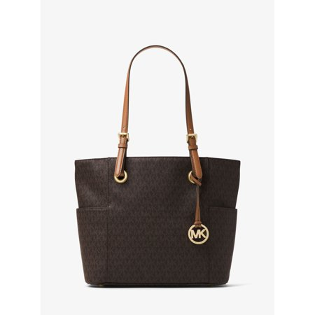 Jet Set Logo East West Signature Leather Tote - Signature Brown - 30H6GTTT3V-200 East West Lined Tote