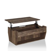 Furniture of America Edwards Rustic Coffee Table in Reclaimed Oak