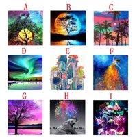 5D Moon Night Tree Diy Square Diamond Painting Animals Embroidery Full Drill Craft Decor Cross Stitch Kits
