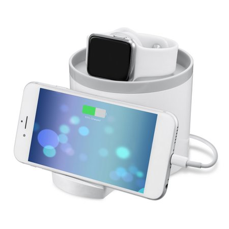 Multi-use Dual USB Output Ports Charger Dock Mobile Phone Stand Desktop Charging Station For Apple Watch for iPhone - image 2 of 10
